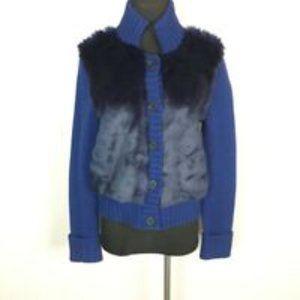 C. Wonder   Wool Faux Fur Front Sweater Jacket